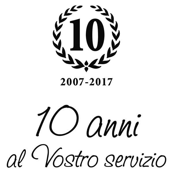10 anni al vostro servizio