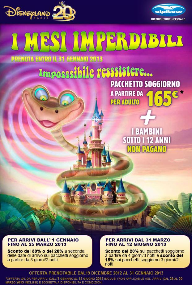 Offerta speciale Disneyland Paris
