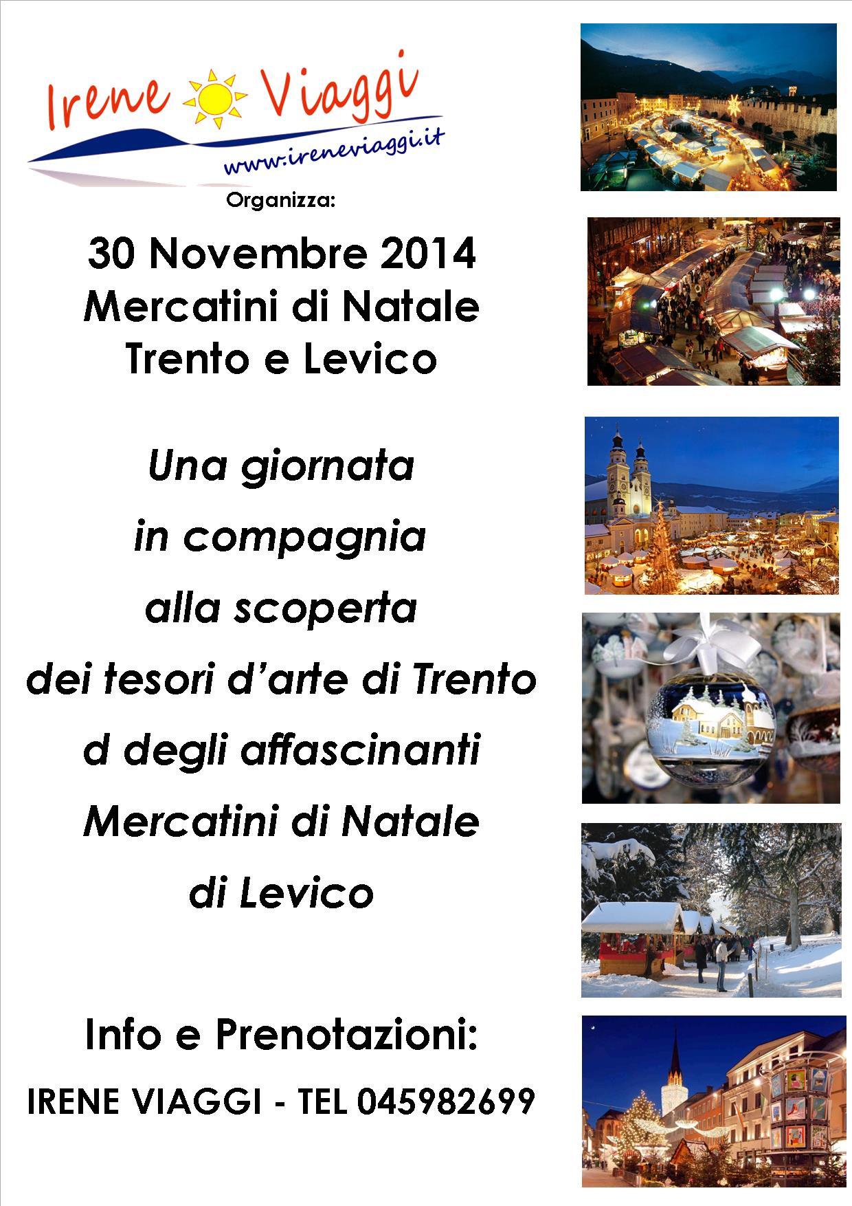 Mercatini di Natale a Trento e Levico