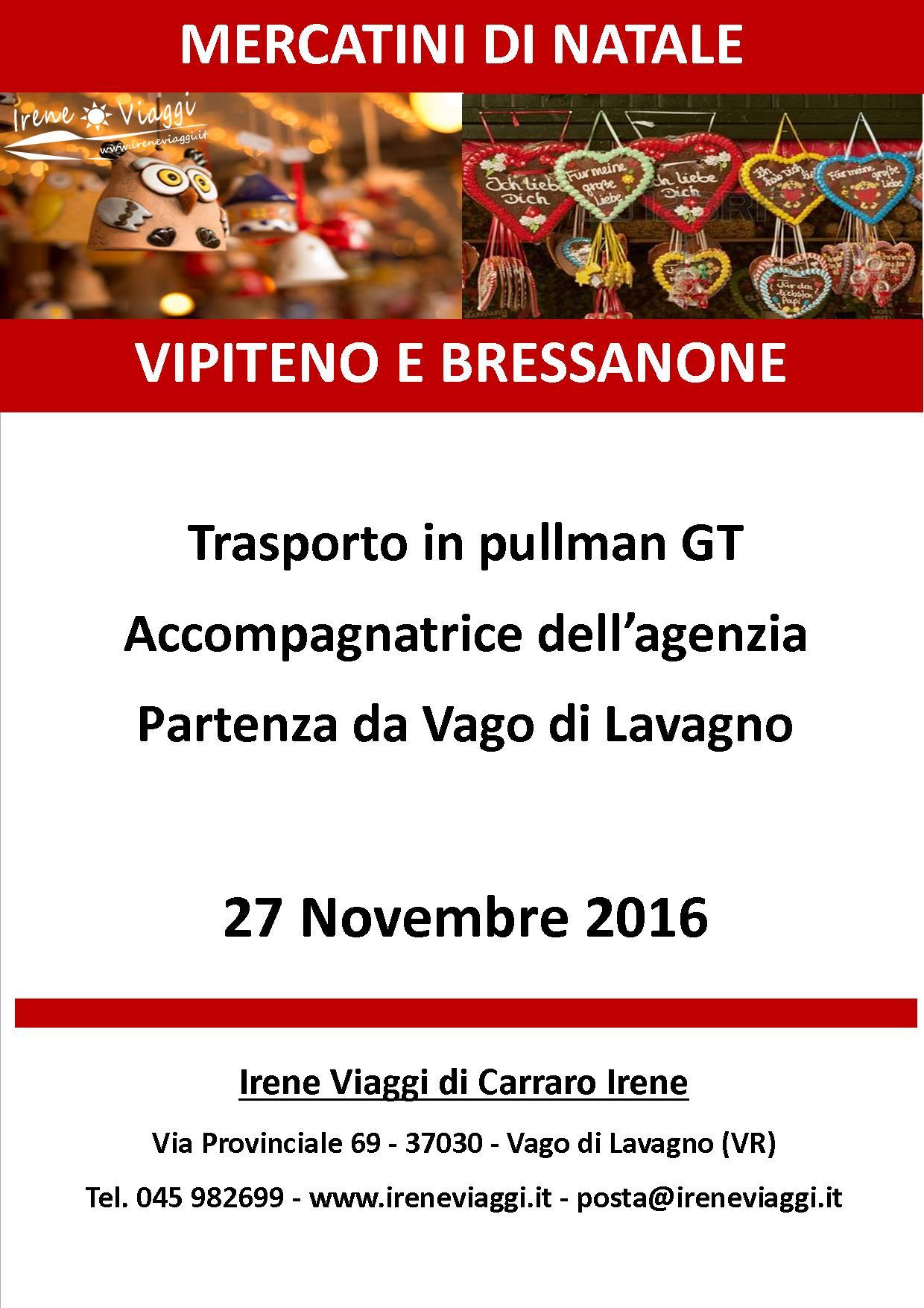 Mercatini di Natale a Vipiteno e Bressanone