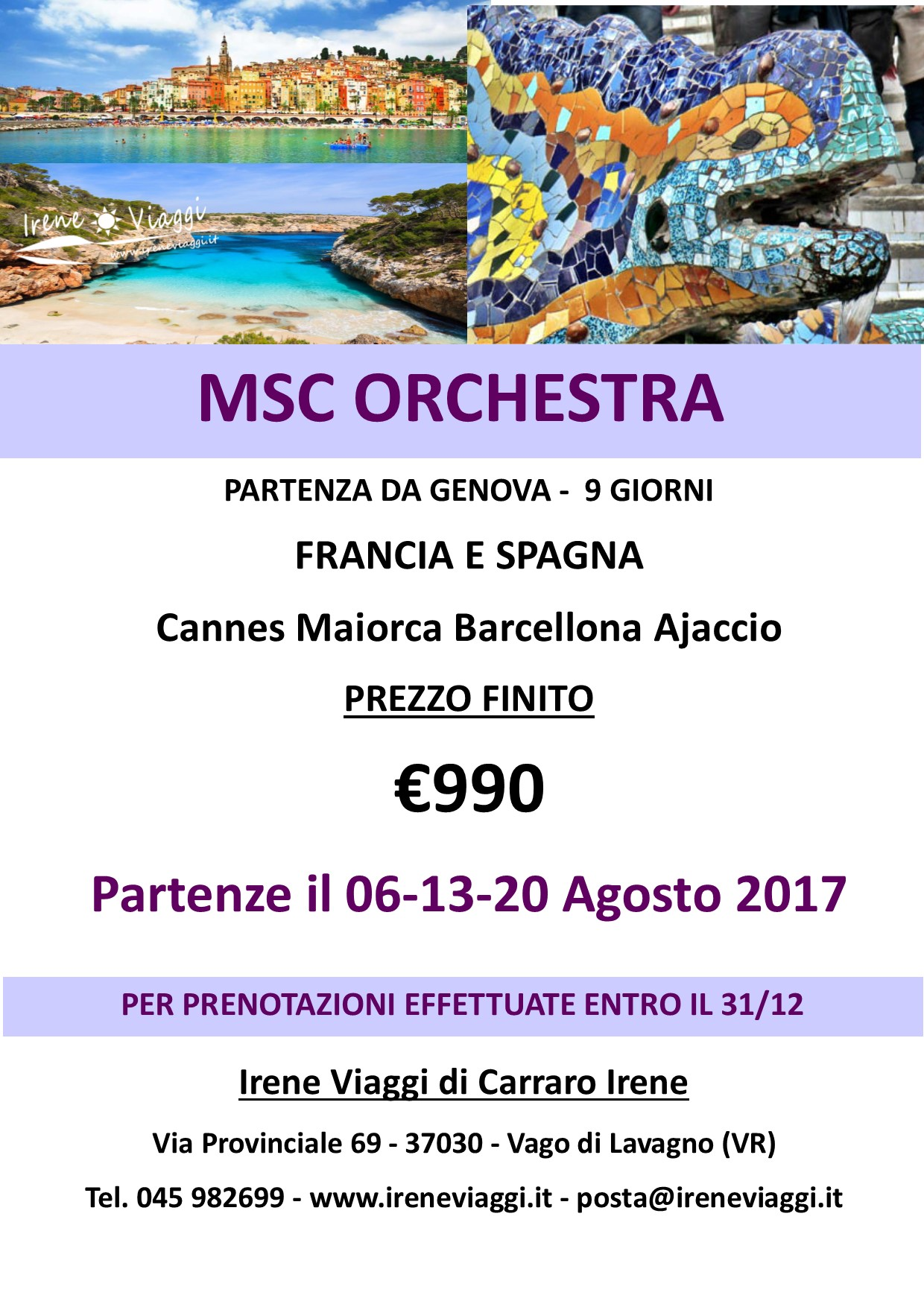 Crociera a bordo di Msc Orchestra