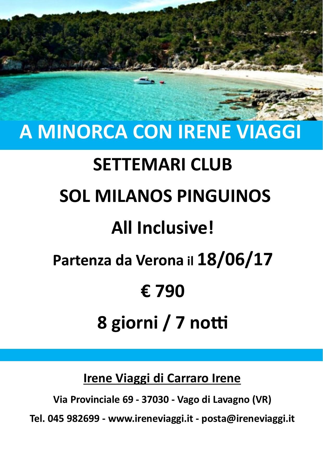 A  Minorca con Irene Viaggi
