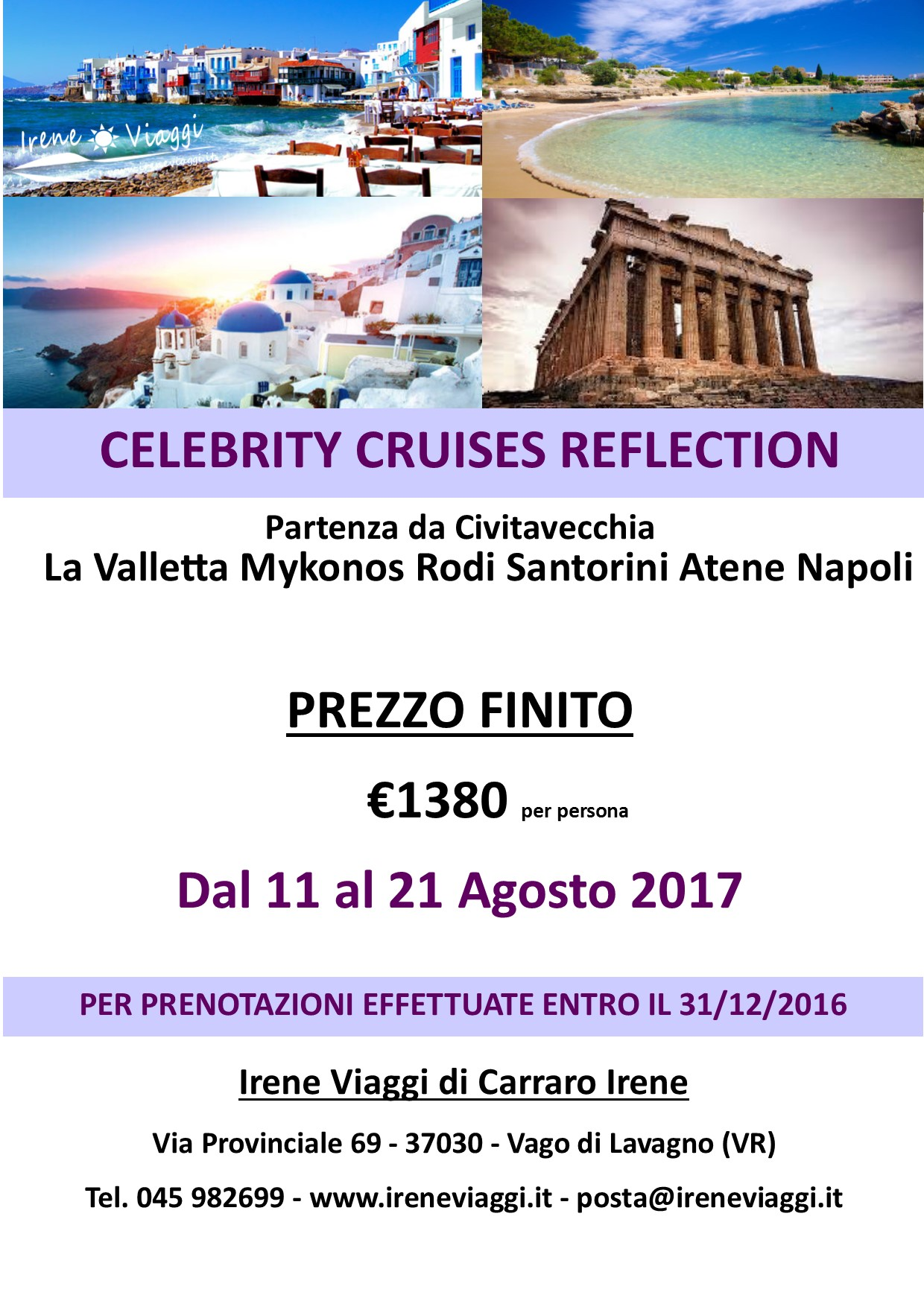 Crociera a Bordo di Celebrity Cruises Reflection - Grecia