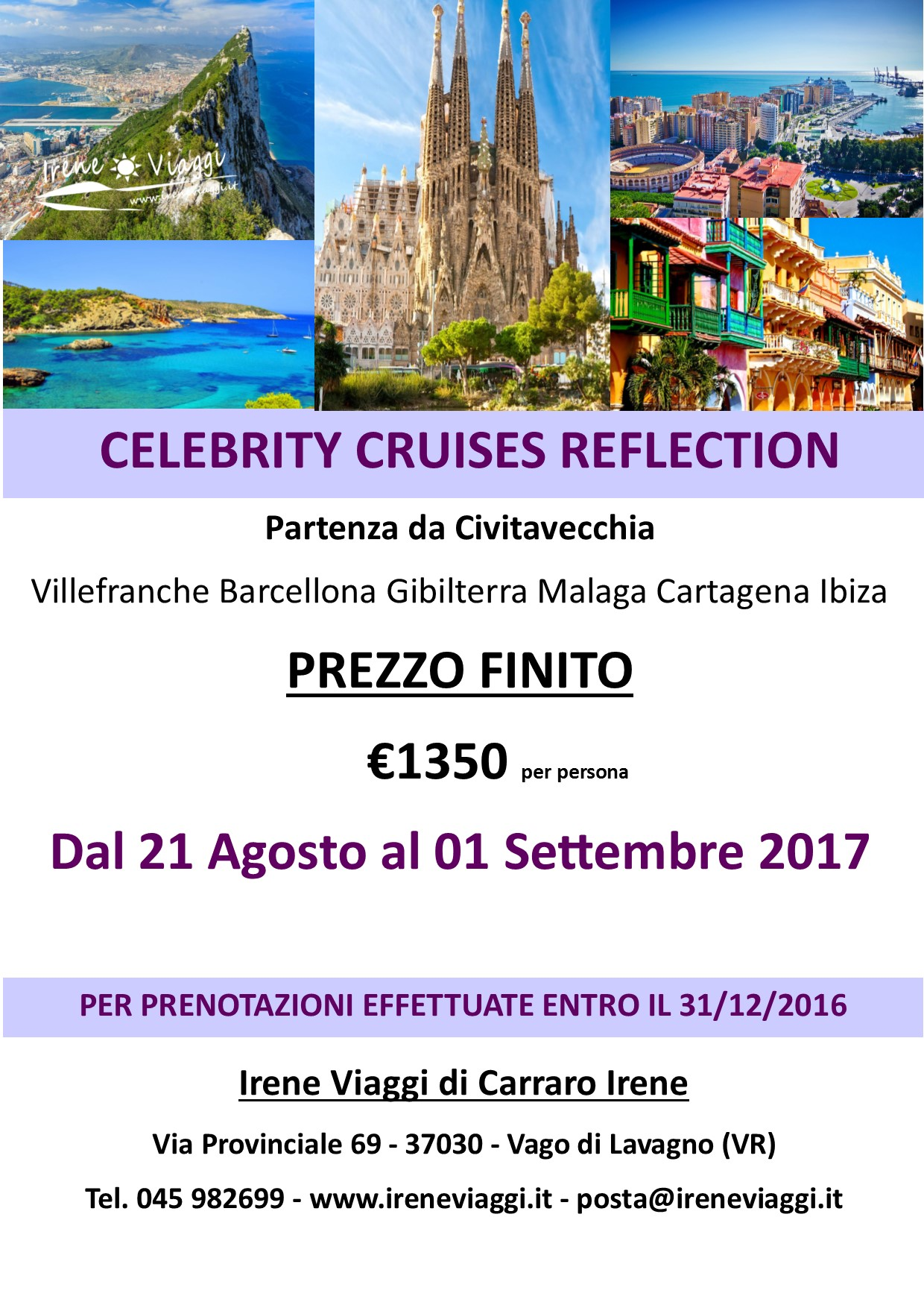 Crociera a bordo di Celebrity Cruises Reflection - Spagna