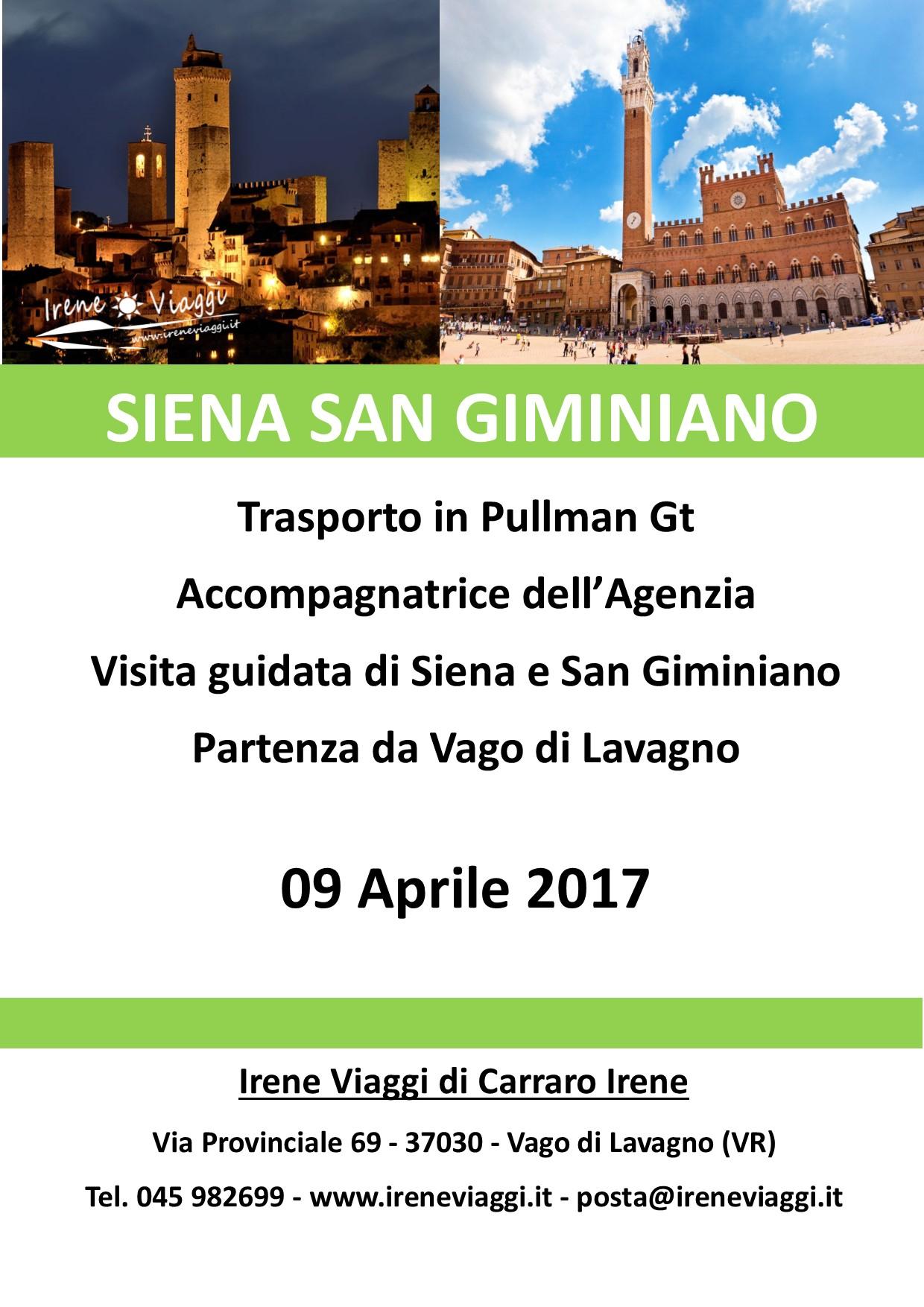 Siena e San Giminiano