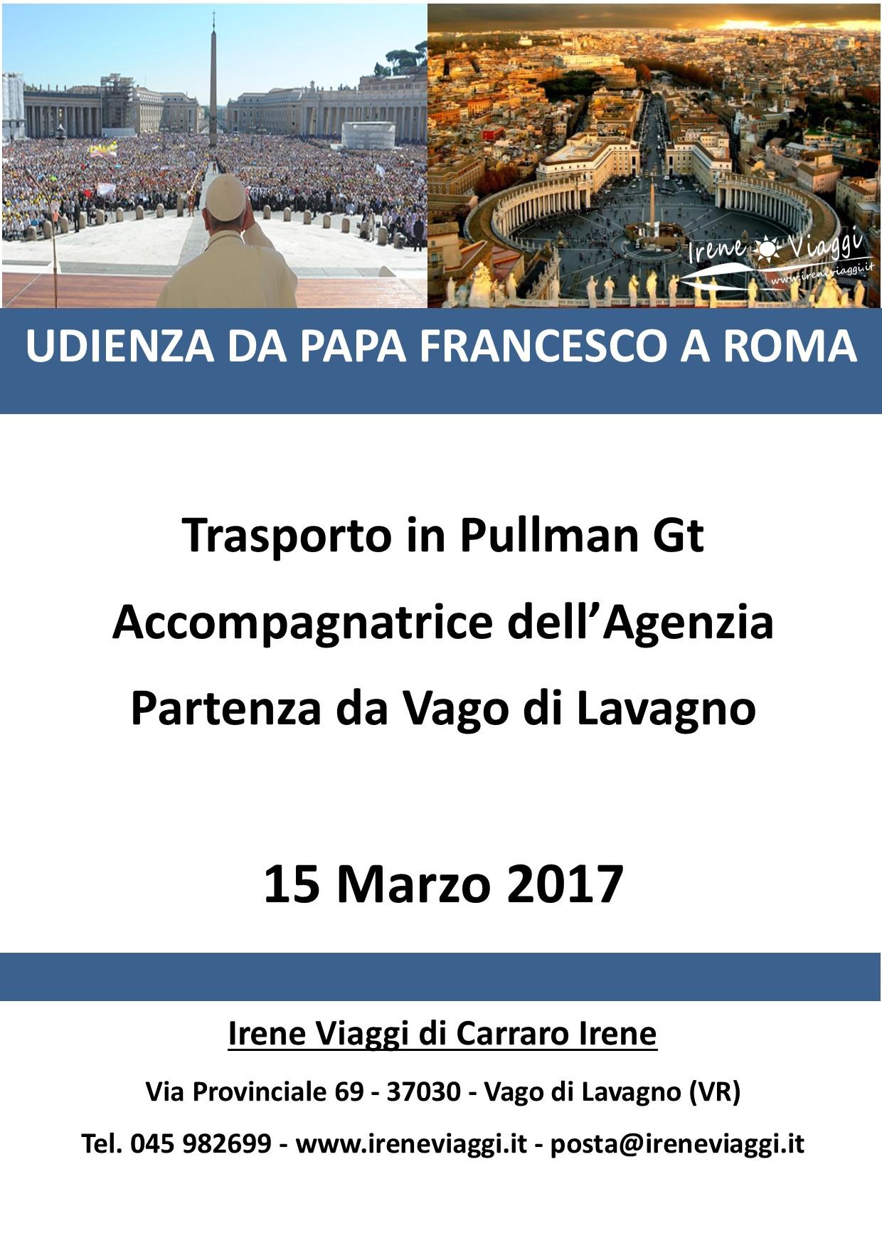 Udienza da Papa Francesco a Roma