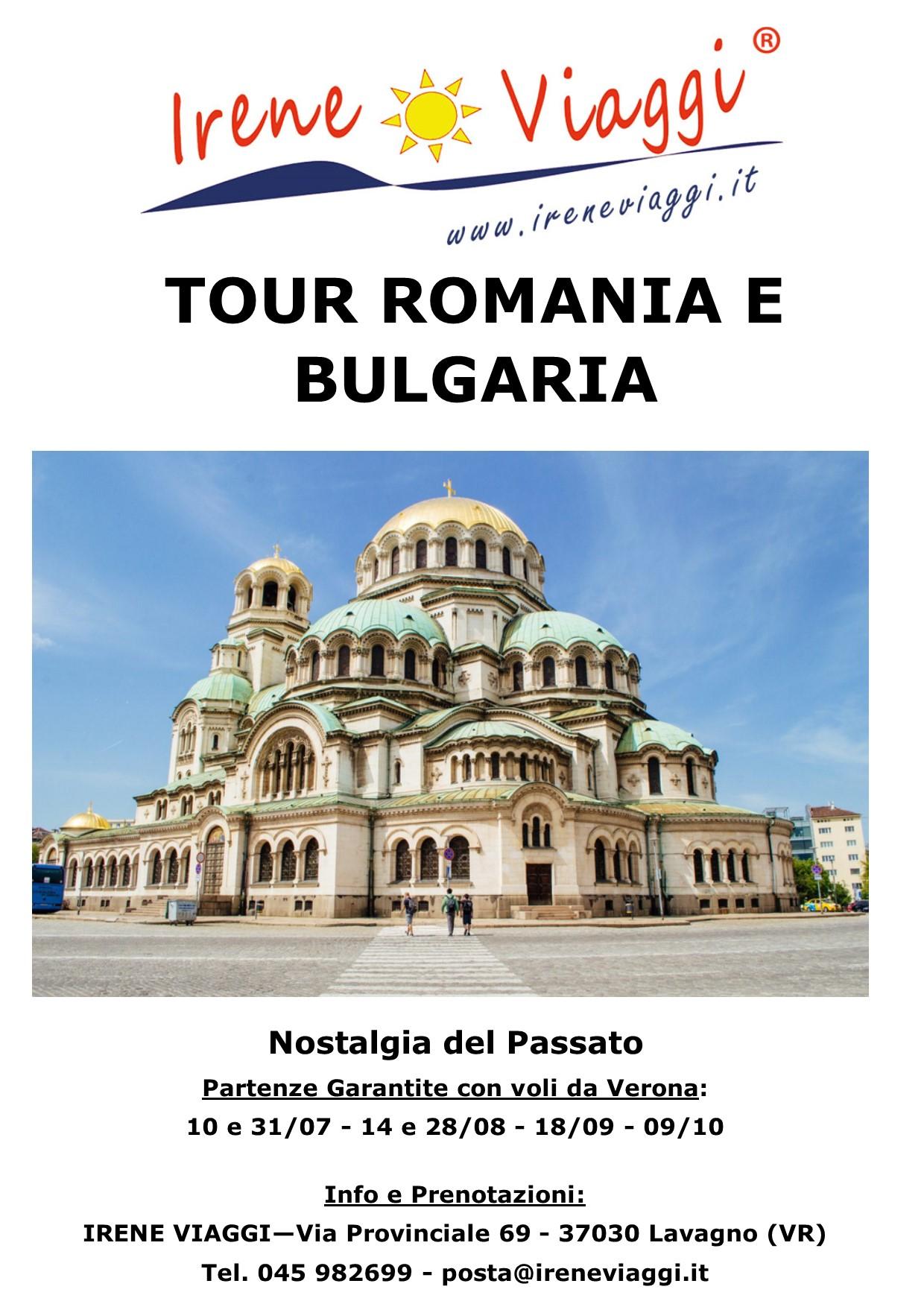 Tour Romania e Bulgaria