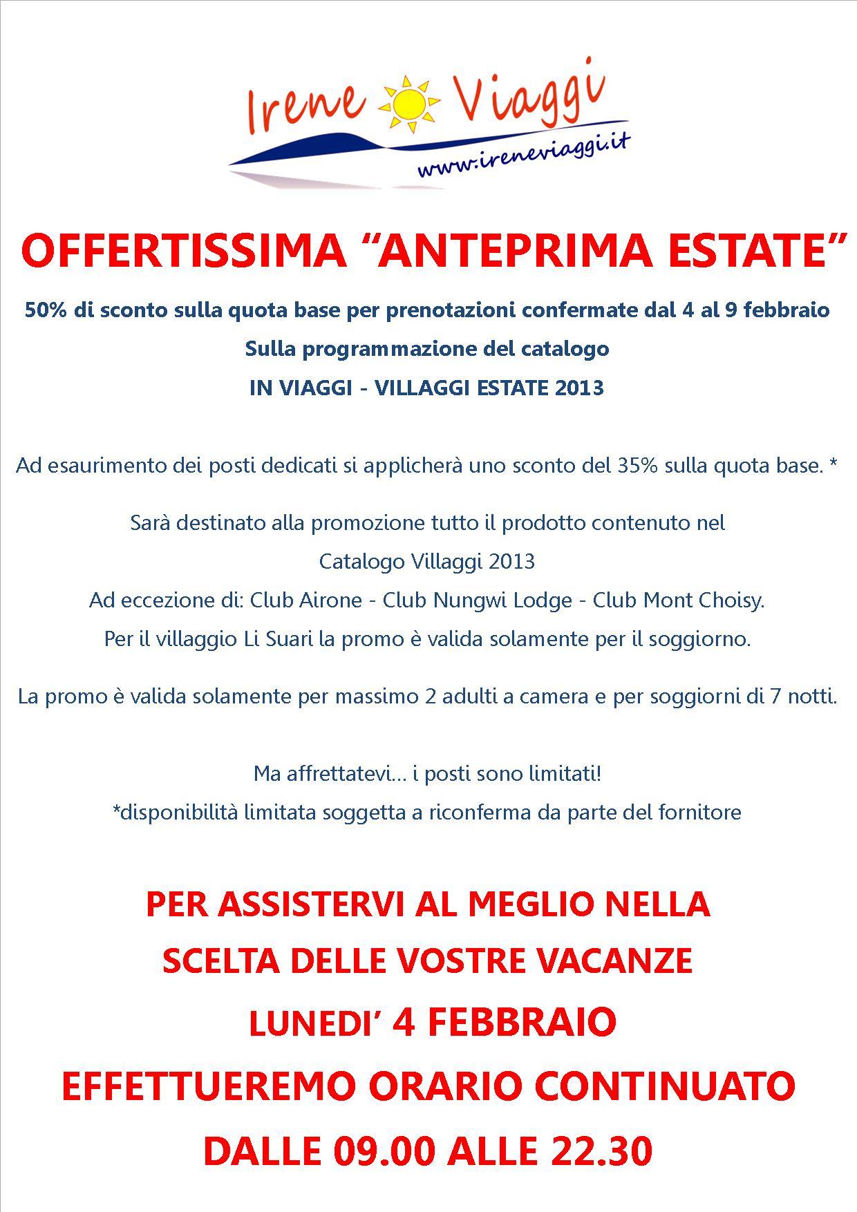 Anteprima Estate 2013