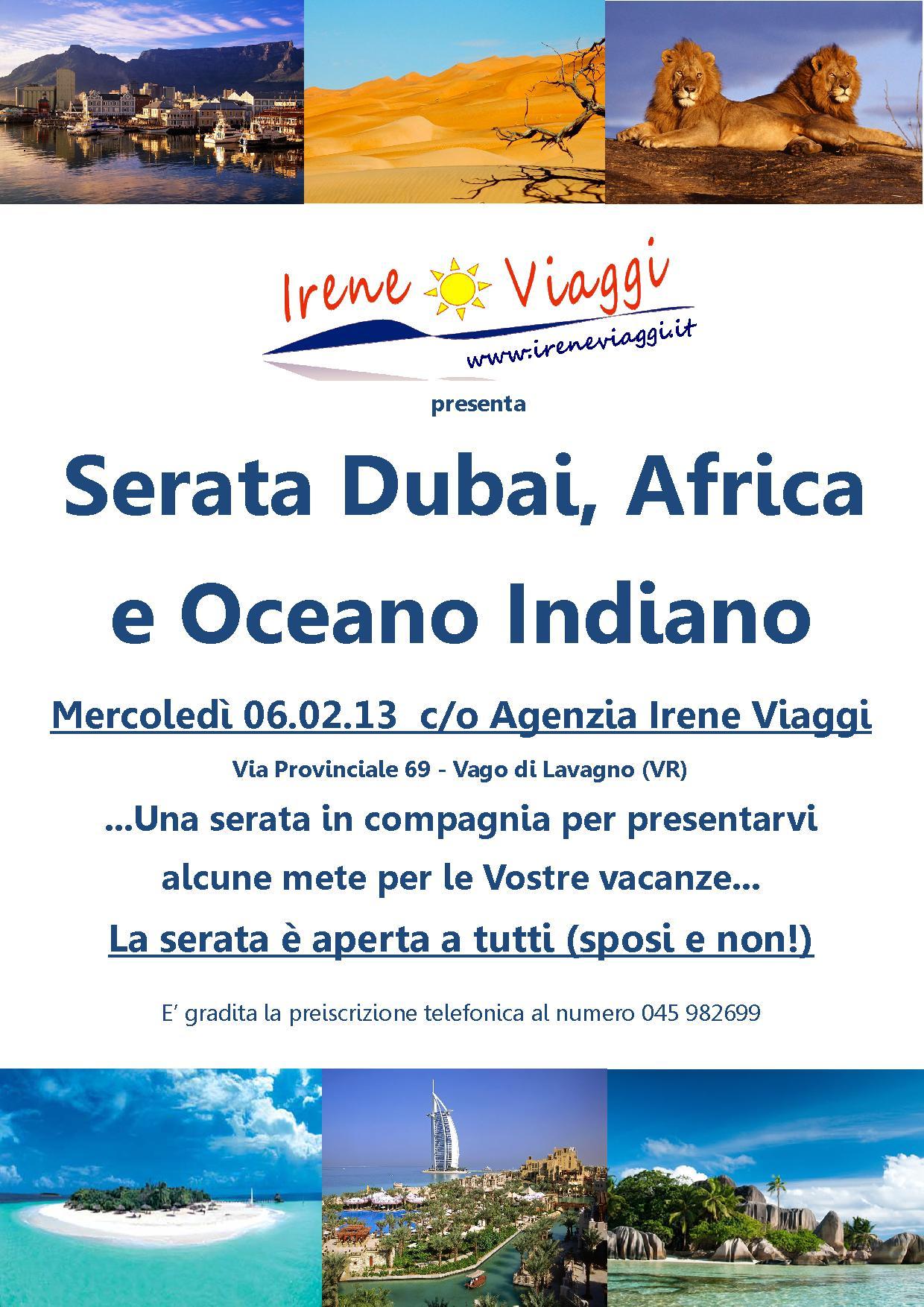 Serata Emirati Africa e Oceano Indiano