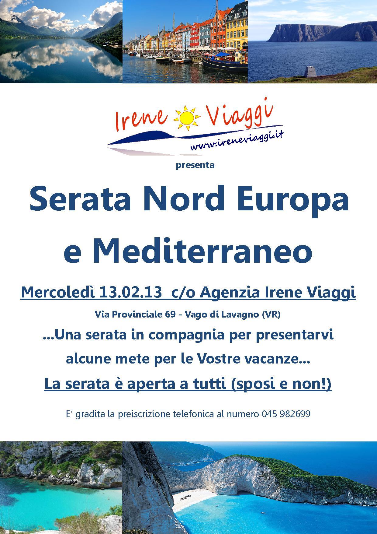 Serata Nord Europa e Mediterraneo